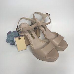 NWT ZARA muse platform heels sz 36